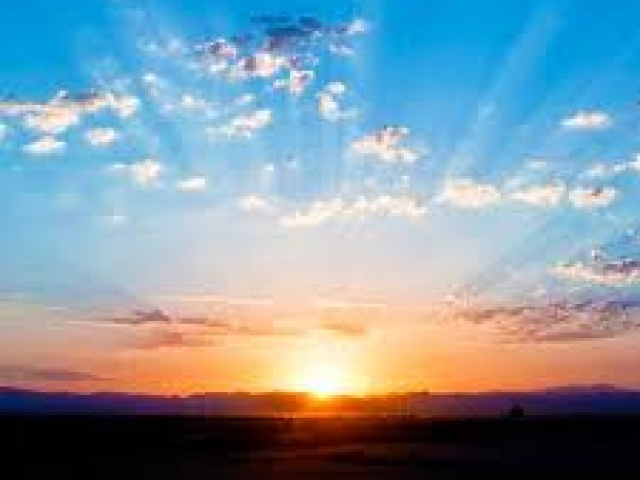 La magia dell'alba.